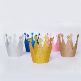 $enCountryForm.capitalKeyWord UK - 6pcs Prince Princess Crown Hat Adult Kids Baby Birthday Party Favors Children Cap Gift Crown Princess Party Decoration