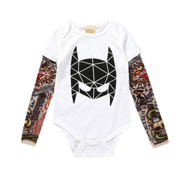 090660aa8c0 Ins baby coveralls spring and summer boy tattoos 1-3 year bodysuit baby  cotton romper tattoos 6 color free shipping