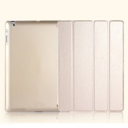Ipad aIr leather cases online shopping - For iPad Pro Mini Air Foldable Magnetic Smart Cases silk pattern Cover With Auto Sleep Wake