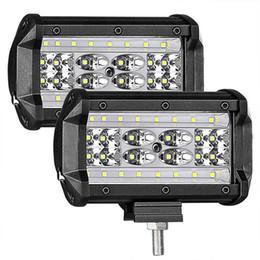 Venta al por mayor de LED Pods, 2Pcs 5 '' 168W QUAD Fila LED Barra de luces Spot Flood Combo Viga Off road Conducción Faros antiniebla Cubos LED impermeables Luz de trabajo para camión
