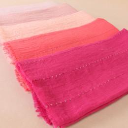 Cotton Viscose Plain Scarves Australia - Women's plain paillette glitter scarf wrinkle cotton viscose scarves headband wrap muslim crumple scarves scarf 180*90cm D18102905