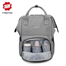 $enCountryForm.capitalKeyWord Canada - Tigernu Mommy diaper bag large capacity baby nappy bags nursing bag fashion travel Women backpack bag for mom dad Y18110202