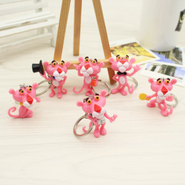 Discount naughty doll Cartoon Cartoon Lovable Dalang Pink Leopard Naughty Leopard 3d Doll Key Chain Pendant Small Gifts Wholesale