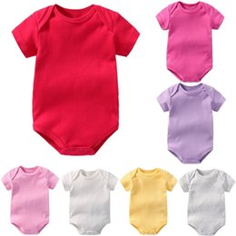 Hot Red Baby Girl Bodysuit Premature Tee Shirts Cotton Soft Newborn Clothes  Blank Solid One-Piece Clothing Children Jumpsuit Top 82785a8747b8