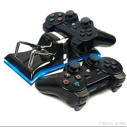 Dual Usb Stick NZ - Dual USB Charging Station Dock Adjustable Cradle Stand Mount Holder Chargers For PS3 Wireless Controller Gamepad Game Sticks New