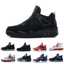 aa9e51f32539 Discount 4 4s Mens Basketball Shoes Motosports Blue Fire Red White Cement  Pure Money Toro Bravo Bred Cavs Thunder Sports Sneakers trainers