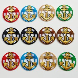 $enCountryForm.capitalKeyWord Canada - 120pcs 4.8cm Marine Anchor Sew On Iron On Patch Applique Clothes Jacket Hat Jean Dress Patches Badge Sticker Garment Accessories