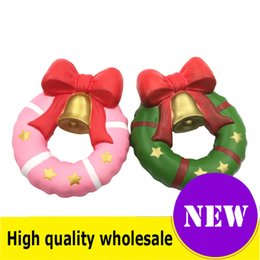 China Squishy Christmas bell high quality Jumbo Slow Rising Soft Oversize Phone Squeeze toys Pendant Anti Stress Kid Cartoon Toy Decompression Toy cheap fantasy pendants suppliers