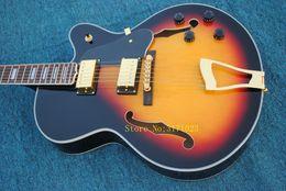 Vintage Sunburst NZ - Wholesale Guitars Vintage Sunburst Hollow L-5 Jazz Guitar Gold Hardware Best Selling