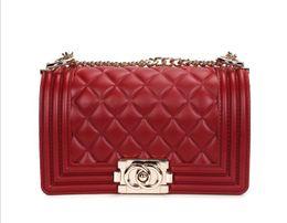 49d879c82760 Leather Luxury Designer Handbags Sale UK - Hot Sale Fashion Designer  Shoulder Bags Women s Plain Chain