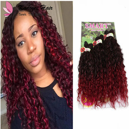 $enCountryForm.capitalKeyWord NZ - Synthetic Braiding Hair Blonde Extensions Kinky Curly,Loose Wave bloom curl Ombre Hair Burgundy Weave Crochet For Black Women Hairstyles