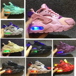 Discount kids athletic shoes - Flash Kids Huarache Runing Shoes boys runner Children Lighted huaraches outdoor toddler athletic boys & girls Infant sne