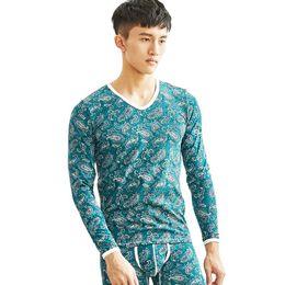 $enCountryForm.capitalKeyWord NZ - Fashion Men Thermal Underwear Tops Brand Cotton Long Johns Shirts Man Winter Undershirt Lounge Pajamas Sleepwear Good Quality