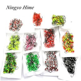 Lure Mini Lead NZ - Free Shipping 50Pcs lot Winter Ice Fishing Lure Mini Metal Lead Head Hook Bait Jigging Lure Hooks High Quality For FishingTackle