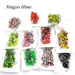 Wholesale Winter Ice Fishing Lure Mini Metal Lead Head Hook Bait Jigging Lure Hooks High Quality For FishingTackle