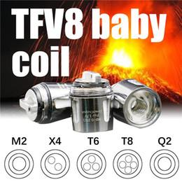 Venta al por mayor de TFV8 Baby Coil Head V8 Baby T8 T6 X4 Q2 0.4ohm 0.6ohm M2 0.15ohm 0.25ohm Bobinas de reemplazo de núcleo envío tecnológicoA Compre 5 Obtenga 2 gratis