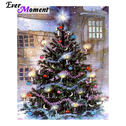 wholesale diy diamond painting cross stitch christmas tree festival decoration christmas gift craft full square drills asf1022 - Christmas Decorations Online