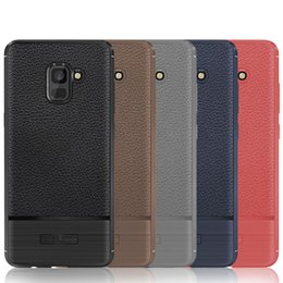 a6 phone NZ - For Samsung A3 A5 A6 A7 A8 C7 Series Phone Case Luxury Litchi Grain Leather Phone Cases Comfortable Texture Soft TPU Silicone Back Cover