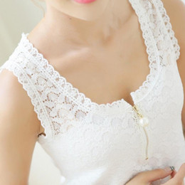 lace blouse women xxxl NZ - Fitness Tank Tops Summer Style Ladies Tops Beaded White Lace Blouse Shirt 2018 S-XXXL Hollow Out Sleeveless Women Camis