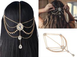 Bridal rhinestone head chain online shopping - 2018 Wedding Hair Accessories For Bohemian Wedding Dresses Head Chain Bling Crystal Rhinestones Silver And Gold Bridal Accessories