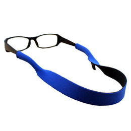 SunglaSSeS chained online shopping - Top Quality Neoprene Sunglasses Strap Head Band Floater chains Eyeglass Cord Stretchy holder