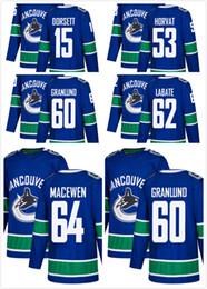$enCountryForm.capitalKeyWord Canada - 2018 Mens Sale 53 Bo Horvat Hockey Jersey Derek Dorsett Markus Granlund 62 Joseph LaBate Zack MacEwen Vancouver Canucks Sport Shirts Stitced