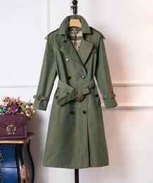 British women s coats online shopping - Women s England StyleClassic high quality British long double breasted trench coat for ladies