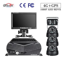 "$enCountryForm.capitalKeyWord Australia - GISION 4CH HDD 4G GPS Hard Disk Mobile Car Dvr 7"" Screen LCD Car Monitor 4Pcs Side Metal HD Security Camera"