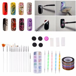 stamp pen NZ - Nail Art Tools Kit Rhinestone Nail APainting Dotting Pen Sponge Stamp Thread Manicure DIY Decoration Tools