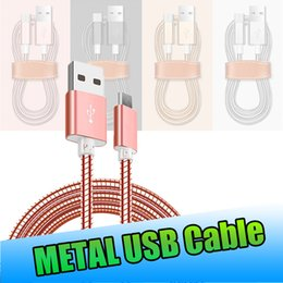 high speed usb charger 2019 - Type C USB Cable Luxury Shiny Metal Braided Micro Data Sync Charging Cord High Speed Charger for Samsung Note8 S9 Plus A