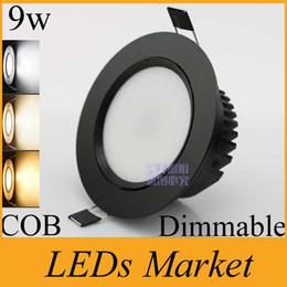 $enCountryForm.capitalKeyWord Australia - Black Shell COB Led Downlight 9w dimmable Led Ceiling lamp Light Bulb Recessed 110v 220v Warm Cool White + Driver 50000h