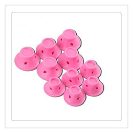 Magic Hair Wholesale NZ - 10PCS Hair Curlers Rollers Clip Pink DIY Magic Styling Tools Spiral Curling Iron Wand Curl Styler Hair Care Styling Tools Product Free DHL