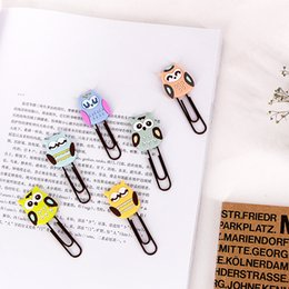 $enCountryForm.capitalKeyWord NZ - Coloffice Creative Stationery Cartoon Owl Paperclips Paging Bookmarks kawaii Colored Soft Paperclips Student Prizes 4 Pieces set