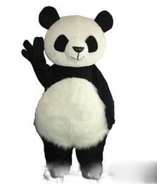 $enCountryForm.capitalKeyWord UK - 2018 Long Hair Panda Bear Mascot Costume Adult Mascot Men's for Party and Valentine's Day Thanksgiving Day Christmas Halloween and New Years