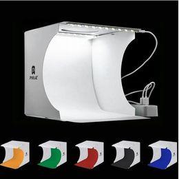 Dual LED Panels Folding Portable Photo Video Box Lighting Studio Shooting Tent Box Kit Emart Diffuse light Photo Studio box Mini photo studi