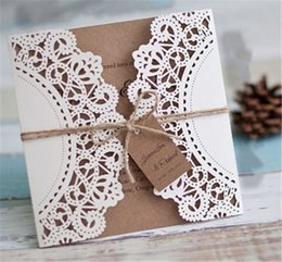 30pcs hollow laser cut wedding invitations cards tags vintage wedding bridal gift greeting card shower kits event party supply 3