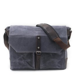 body waxing 2018 - New Arrival Men s Shoulder Bag Oil Wax Waterproof Canvas Messenger  Bag Retro 90031c0c1d