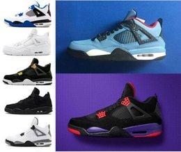 2019 4s mens scarpe da basket 4s bianco cemento nero rosso 4 superman moda sneaker wear affrancatura del pacchetto
