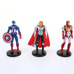 Chinese  The Avengers figures super hero toy doll baby hulk Captain America thor Iron man 6pcs lot Kid boy birthday gift manufacturers