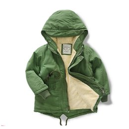 Girls Windbreaker Jackets Australia - Winter Autumn Thicken Jacket Boys Girl Kids Windbreaker Coats Fashion Children Hooded Trench Coat for toddler jacket Cotton Warm