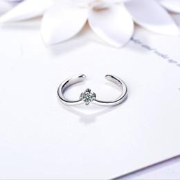 v shape rings for women 2019 - 2018 Women V CZ Shape 925 Silver Ring Designs For Women Female With Price Open Adjustable Plain Triangle Finger Rings Je