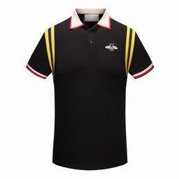 977ae22d6f57b Printemps Été 2018 polo shirt mode Designer polo t chemises hommes t-shirts  conception impression poloshirt vêtements polos tops 3XL
