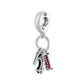 bracelet charms angels UK - Fits for pandora Bracelets necklace 925 Sterling Silver Jewelry Pandulaso San Francisco Highlights Charm Fashion Beads For Jewelry Making