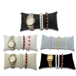 size watches 2020 - Free Shipping Retail Jewelry Bracelet Pillow Display Holder in Black Velvet Watch Pillow for Gift Box Large Size discoun