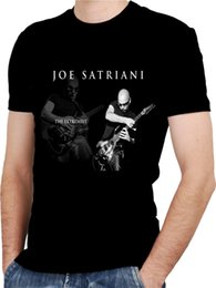 Black s guitar online shopping - JOE SATRIANI GUITAR Black New T shirt Rock T shirt Rock Band Shirt Rock Tee Short Sleeves New Fashion Summer Men S fashion Tee