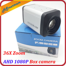 Wholesale HD MP AHD P Box camera X Zoom mm lens IN P Box Cameras WDR Auto IRIS DSP Zoom RJ485 Camera For AHD DVR CCTV