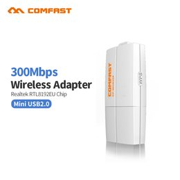 Comfast Wifi Usb Adapter Australia - COMFAST CF-WU835P 300Mbps wireless adapter dongle wifi router 2T2R WPS ethernet wifi dongle one key encryption pc wifi receiver