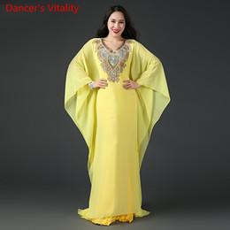 $enCountryForm.capitalKeyWord Australia - Winter Lady Women Belly Indian Oriental Dance Dress Diamond Robe 2pcs Set Suit Competition Costume Rumba Dancewear Outfits Graments Cllothes