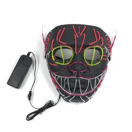 $enCountryForm.capitalKeyWord UK - wire Mask Flashing Cosplay LED Glowing Cat mask Costume Anonymous for Glowing dance Carnival Party Masks