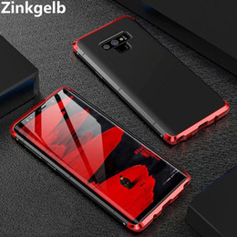 $enCountryForm.capitalKeyWord NZ - For Samsung Galaxy Note 9 Case Cover Luxury Metal Aluminum Alloy Hard Plastic Protective Armor Phone Case for Note 9 Back Cover